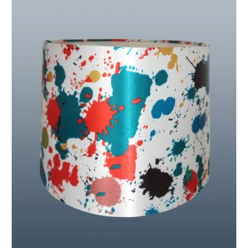 """PAINT SPLODGE - 12"""" EMPIRE DRUM SHADE FOR CEILING OR TABLE LAMP USE"""