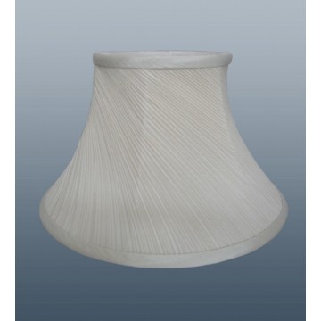 "10"" TWISTED PLEAT LAMPSHADE IN BEAUTIFUL CREAM FABRIC"