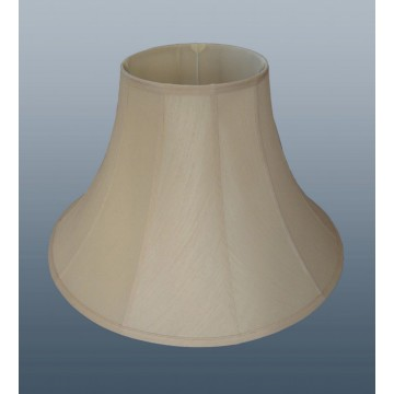 "12"" FAUX SILK AND CREAM LINED BELL LAMPSHADE"