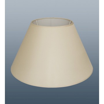"16"" EMPIRE COOLIE LAMPSHADE IN CREAM COLOUR FABRIC"