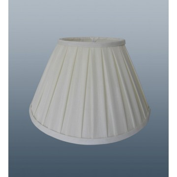 "ENYA BOX PLEAT 18"" SHADE IN LIGHT CREAM COLOUR FOR TABLE OR FLOOR LAMP"