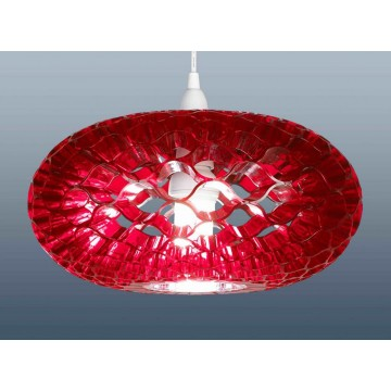 Funky retro style loren honeycomb pendant lampshades in red funky retro style loren honeycomb pendant lampshades aloadofball Image collections