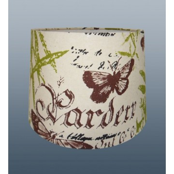 """'GARDEN THEME' 12"""" EMPIRE DRUM SHADE FOR CEILING OR TABLE LAMP USE"""