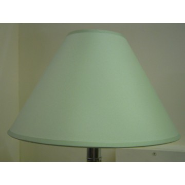 """12"""" COTTON COOLIE PENDANT OR TABLE LAMPSHADE IN LIGHT GREEN COLOUR"""