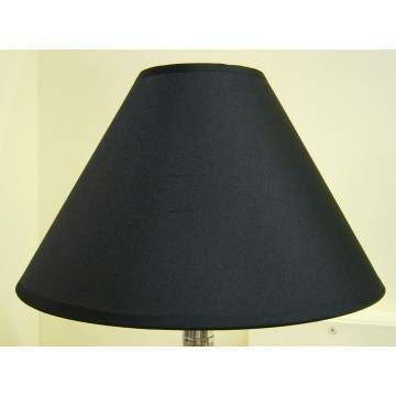 "12"" COTTON COOLIE PENDANT OR TABLE LAMPSHADE IN BLACK COLOUR"