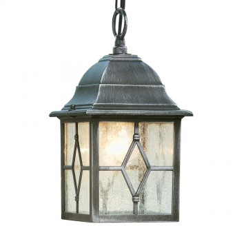 GENOA - OUTDOOR BLACK/SILVER PENDANT - LEAD GLASS