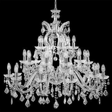 MARIE THERESE - CHROME CHANDELIER