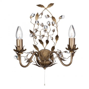 ALMANDITE - 2 LIGHT BROWN GOLD WALL WITH CRYSTAL DRESSING