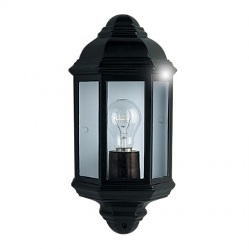 SEARCHLIGHT - BLACK OUTDOOR WALL LIGHT FLUSH. IP44