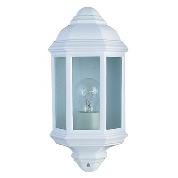 SEARCHLIGHT - WHITE OUTDOOR WALL LIGHT FLUSH. IP44