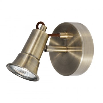 EROS - 1 LIGHT ANTIQUE BRASS SPOTLIGHT - GU10