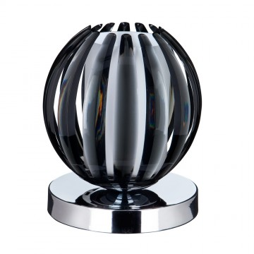 TOUCH TABLE LAMP CHROME - SMOKEY ACRYLIC WITH FROSTED GLASS