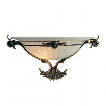 WALL WASHER - ANTIQUE BRONZE AND SCAVO GLASS